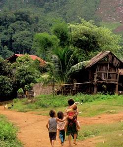 trekking laos Pak Ou